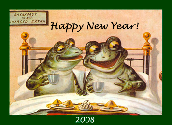Happy New Year 2008 Frogs