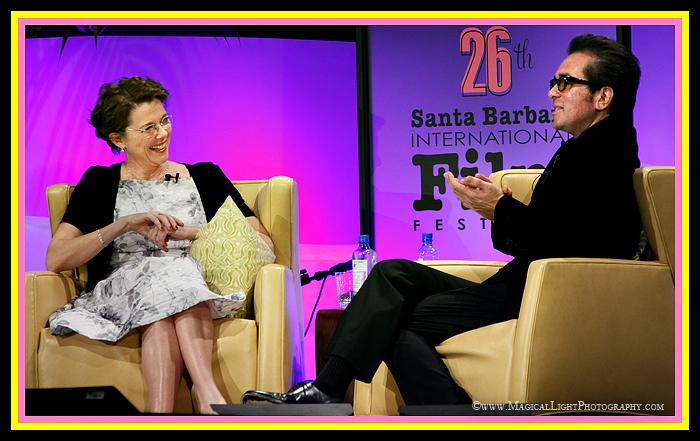 "Annette Bening and Roger Durling<br />2011 Oscar Nominee for ""The Kids are All Right"" at her Festival tribute"