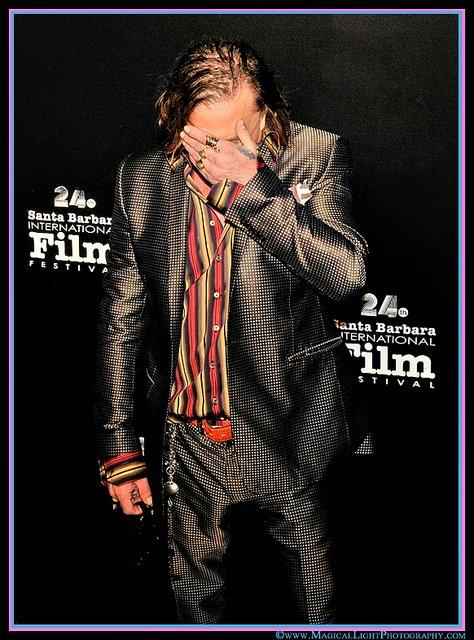 "Mickey Rourke<br />""Fashion Iconoclast"" Mugs for Camera<br />Santa Barbara Int'l. Film Festival 2009"