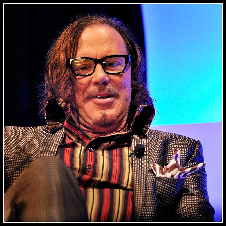 "Best Actor Oscar Nominee ""The Wrestler""<br />Santa Barbara Int'l. Film Fest.Mickey Rourke receives the 'American Riviera Award' at the 24th Annual Santa Barbara Int'l. Film Fest. Film icon Francis Ford Coppola made the presentation (separate photo.)"