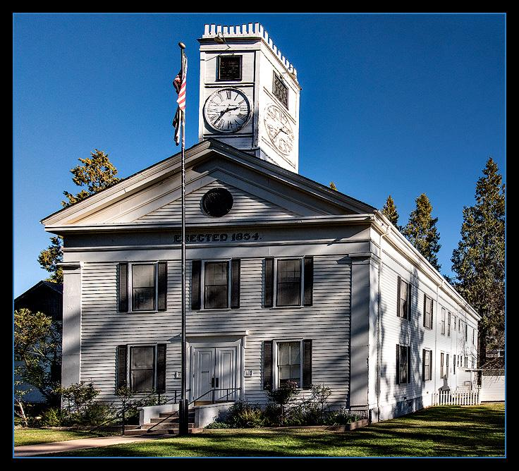The oldest continuously operating courthouse in the USA. Erected in 1854.