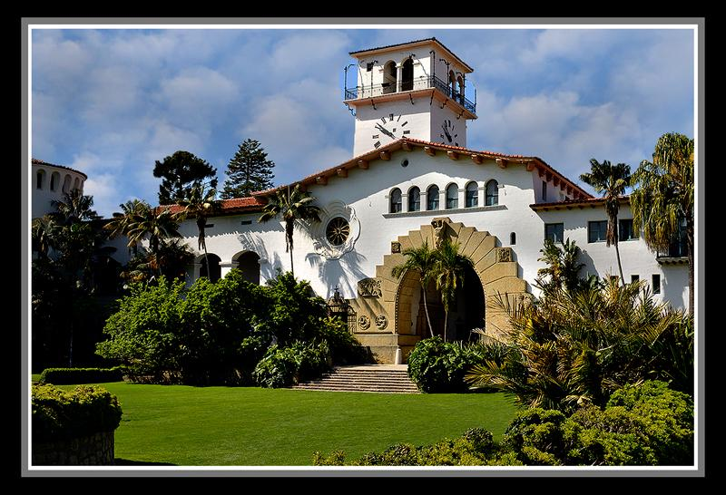 The original courthouse was severely damaged by the major 1925 Santa Barbara earthquake. The current building was dedicated, after reconstruction, in 1929 and is considered one of the most beautiful buildings in the United States.