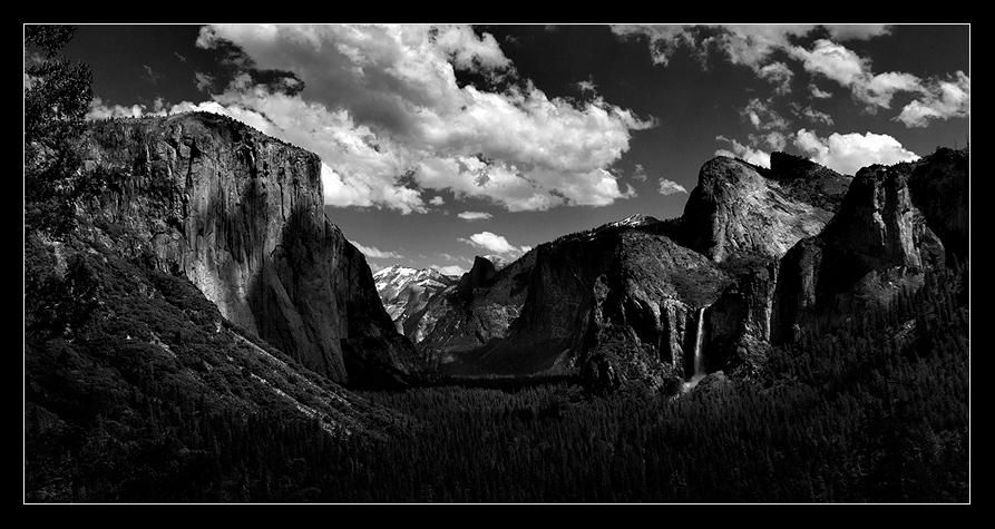 Ansel Adams made many wonderful exposures of this iconic scene - Tunnel View. And... we now add ours!April 2012.