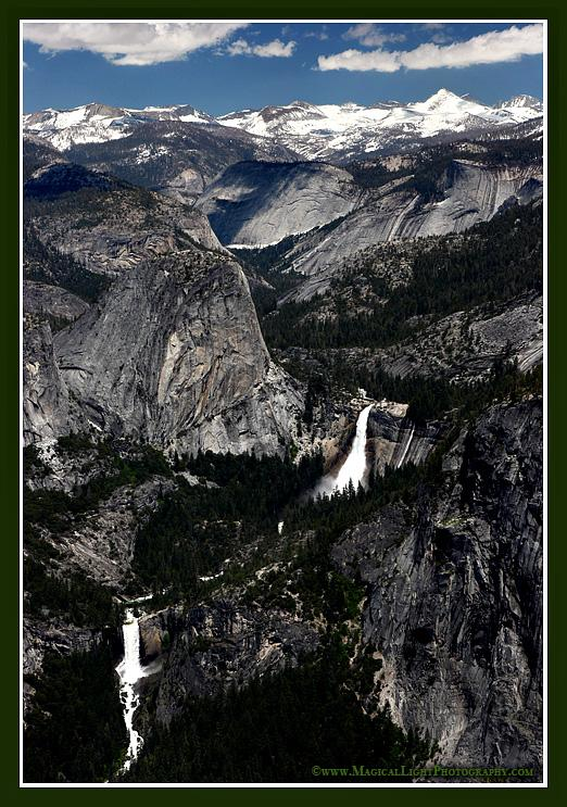 Sierra Nevada Snow Pack<br />From Washburn PointSierra Nevada Snow Pack<br />Snow pack measuring nearly 200% of normal high in the Sierra Nevada range will feed Yosemite waterfalls long into the summer.The raging waters can be seen here in Vernal and Nevada Falls feeding the Merced River.