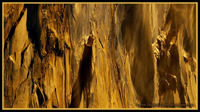 "About this view:""I also like to hunt for interesting shapes and compositions within the context of the scene and this second shot (like last year's) is a detail of the rock face. It is wonderfully intriguing in that it looks so much like gigantic gold nuggets protruding from the cliff, just waiting to be chipped off to make a vast fortune of incalculable wealth"